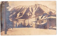 BC – FERNIE, Winter Residential Street with Mt Fernie, Spalding c.1905-1909 RPPC