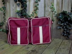 Vintage 1980s Carry on Luggage Large Duffle Bag by ForsythiaHill