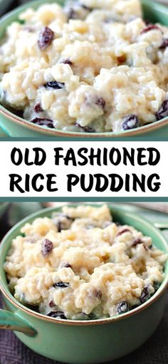 Old Fashioned Rice Pudding is delicious served warm or chilled. This is good old fashioned comfort food at it's best! Old Fashioned Rice Pudding is delicious served warm or chilled. This is good old fashioned comfort food at it's best! Rice Pudding Recipes, Rice Recipes, Cooking Recipes, Rice Puddings, Rice Pudding Baked, Recipies, Crockpot Rice Pudding, Rice Custard, Homemade Rice Pudding