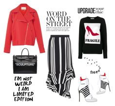 """Word on the street"" by zabead ❤ liked on Polyvore featuring Dsquared2, Moschino, SemSem, Off-White and WALL"