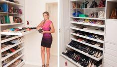 como organizar os sapatos e bolsas