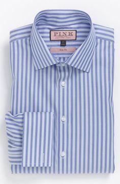 Thomas Pink Slim Fit Dress Shirt Dress Shirt And Tie, Slim Fit Dress Shirts, Suit Measurements, Smart Man, Formal Shirts For Men, Thomas Pink, Casual Party Dresses, Bespoke Tailoring, Mens Gear