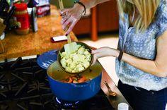 Le Creuset Artichoke Sweet Potato Soup - Fashionable Hostess | Fashionable Hostess