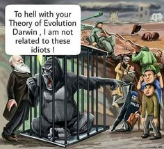 F**k your evolution, Darwin. I'm not related to those idiots! Pseudo Science, Man 2, Funny Jokes, Hilarious, Theme Tattoo, Theory Of Evolution, Darwin Evolution, Science Memes, Really Funny