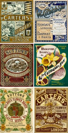 Vintage labels collage sheet