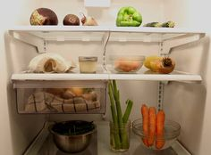 """Zero Waste blogger Lauren Singer: """"I only go grocery shopping when I don't have food left,"""" said Singer, which helps her to reduce food waste. She's also spent some time learning about how to make produce stay fresh the longest. For example, putting your carrots and celery in water will keep them crisp."""