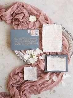 Mauve and Dusty Blue Wedding Details