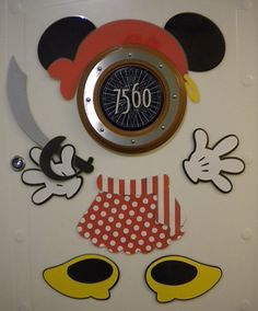 Minnie Mouse Part Magnets WITH Pirate Accessories (11 Pcs) - Great for Decorating Your Stateroom Door on Your Next Disney Cruise