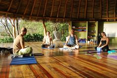 I wish I could take a yoga class in the tropics