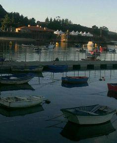 Bayona, Pontevedra, Galicia, Spain. Boats, sea. Monterreal yatching club.