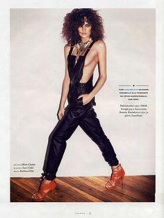 Barbara Fialho wearing a blue jumpsuit and orange heels. Brazilian Supermodel, Orange Heels, Blue Jumpsuits, Supermodels, Sexy, How To Wear, Dresses, Fashion, Brazilian Models