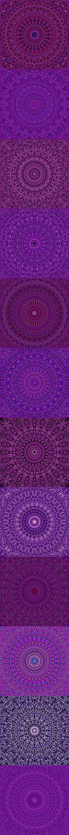 Buy 12 Purple Floral Mandala Seamless Patterns by DavidZydd on GraphicRiver. 12 seamless floral mandala pattern backgrounds in purple tones DETAILS: 12 JPG (RGB files) size: 12 geome. Mandala Pattern, Mandala Design, Mandala Art, Graphic Patterns, Color Patterns, Graphic Design, Geometric Patterns, Violet Background, Purple Backgrounds
