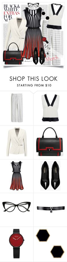 """""""color trio"""" by lyudmyla ❤ liked on Polyvore featuring Oris, J.Crew, Chanel, Donna Karan, Givenchy, MSGM, Yves Saint Laurent, Fallon, Janna Conner Designs and tricolor"""