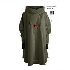Rain Poncho for women - colorful rain fashion from Norway. Nike Jacket, Rain Jacket, Rain Fashion, Rain Poncho, Windbreaker, Zipper, Sleeves, Bergen, Jackets