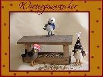 """Häkelanleitung """"Wintergezwitscher""""Vogel-Trio"""