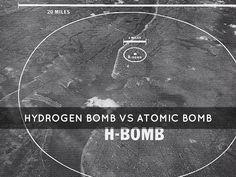 hydrogen bomb vs atomic bomb blast radius - Google Search