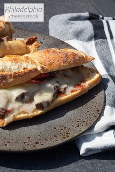 Long strips of grilled steak, cheese and soft vegetables on a long piece of bread with barbecue sauce. What's not to like? Ready in 25 minutes.