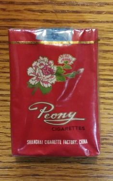 Vintage PEONY UNOPENED Cigarette Pack Shanghai China 1950s Do not smoke -collect | eBay