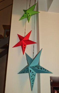 Tutorial de Artesanías: Moldes Lámpara Estrella de papel