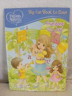 Precious Moments Fun Book to Color ~ Friendship is a Joy Cover ~ 96 Pg by Dalmation Press. $9.99. 96 Pages. Easy tear-out Pages. 2011. Precious moments big fun book to color. Friendship is a joy cover.