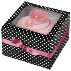 Polka dot box is perfect for delivering favors and other treats!