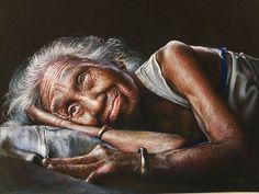 Portrait pastel de Rosmery Mamani Ventura
