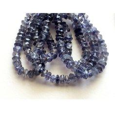 Blue Kyanite Bead Kyanite Rondelle Beads Faceted by gemsforjewels