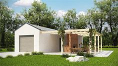 projekt G188 - Budynek garażowo - gospodraczy PRA1173