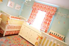 Two Scoops For Me!: Two Cribs?  Exactly.  Milly & Clarabelle's Nursery...