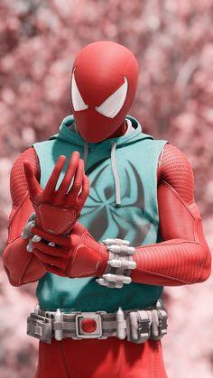 The Scarlett Spider Amazing Spiderman, Spiderman Spider, Spiderman Cosplay, Marvel Art, Marvel Dc Comics, Marvel Heroes, Deadpool Wallpaper, Avengers Wallpaper, Marvel Wallpapers