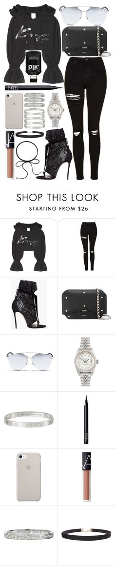 """inspired Kanye west concert outfit"" by crisarranz on Polyvore featuring Kenzo, Topshop, Dsquared2, Givenchy, Christian Dior, Rolex, Cartier, NARS Cosmetics and Humble Chic"