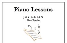 Downloadable template for a poster for piano lessons