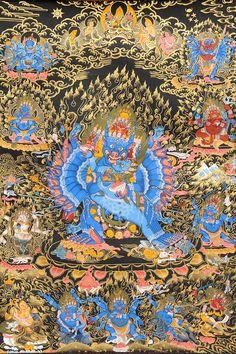 Vajrabhairava (Yamantaka) in Yab Yum