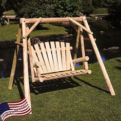 Outdoor space makeover Lakeland Mills CFU28 Cedar Log Outdoor Yard Swing, 5-Feet <3 This is an Amazon Associate's Pin. Click the VISIT button to enter the Amazon website.