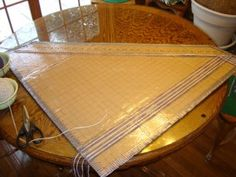 Building and Weaving on a Cardboard Triangle Loom