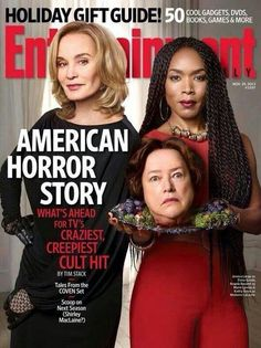 American Horror Story Coven stars Jessica Lange, Kathy Bates, and Angela Bassett cover Entertainment Weekly - November 29 by Martin Schoelle. Entertainment Weekly, American Horror Story Coven, American Story, Cinema Tv, Angela Bassett, Shirley Maclaine, The Jacksons, Cool Books, Horror Stories
