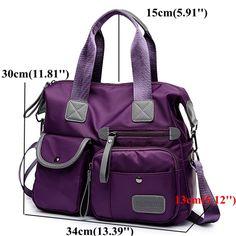 d362c8525cc1 Women Nylon Waterproof Large Capacity Handbag Shoulder Bag Crossbody  Shoulder Bag