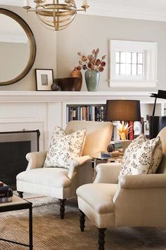 living room   fireplace   bookcase