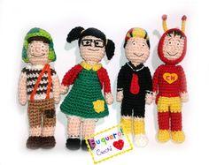 Turma do Chaves feitos em crochê