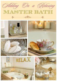 Relaxing Master Bath Add-on Master Bathroom Shower, Spa Like Bathroom, Zen Bathroom, Small Bathroom, Bathroom Ideas, Bathrooms Decor, Design Bathroom, Washroom, Bath Decor