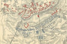 The Battle of Waterloo - map