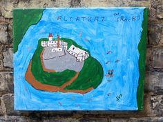 Alcatraz the Rock an original painting by HeartsideGallery on Etsy, $30.00