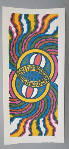 Original silkscreen concert poster for Phish on August 2nd, 3rd, and 4th at The Bill Graham Auditorium in San Francisco, CA in 2013. It is printed on Watercolor Paper with Acrylic Inks and measures around 10 x 22 inches.  Print is signed and numbered out of only 120 by the artist Tripp.