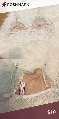 Victoria Secret Eyelash Lace Bralette White Victoria's Secret Tops