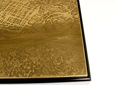 Coffee Table in Etched Brass and Inlaid Agate by Romain image 6