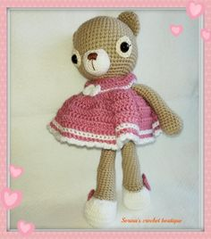 Teddy Bear, Toys, Crochet, Animals, Activity Toys, Animaux, Knit Crochet, Animal, Animales