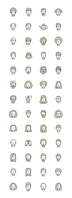 The Outpost / issue 2 by Romualdo Faura, via Behance. – Nicely made iconic faces!