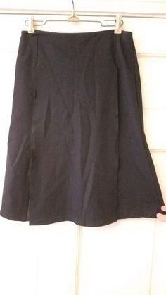 f1110cacc Bailey 44 designer black w peep Faux Leather Panel Black Stretch Skirt Sz  Small #fashion