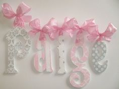 Wood Wall Letters - Kids- Nursery Decor - GLITTER and SPARKLE on Etsy, $15.50