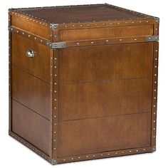 Living Room End Table: Southern Enterprises Steamer Trunk End Table for Chest Game